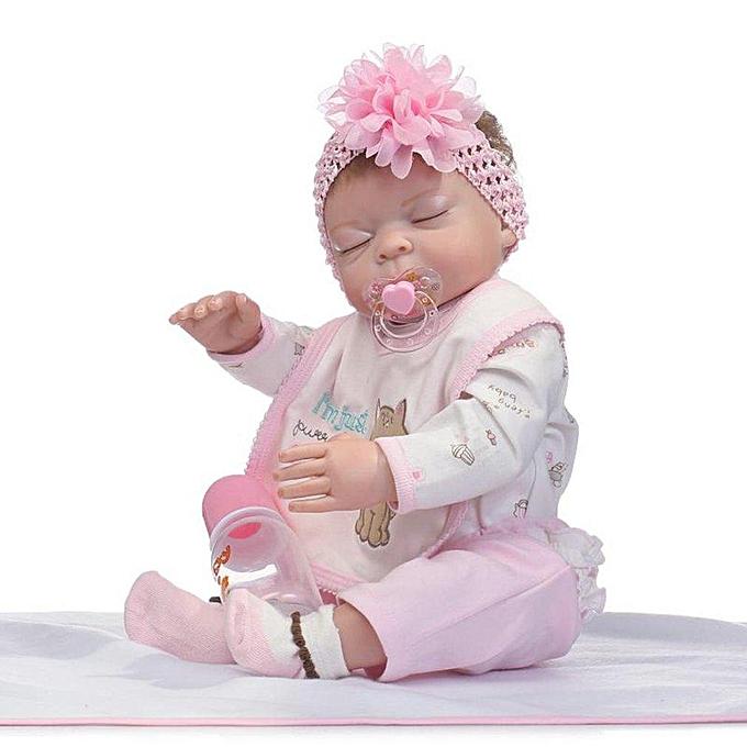 Autre Jouets nouveau-nés de bébé de poupée de vinyle de silicone de 50cm joue le Reborn Couleuré 50cm à prix pas cher