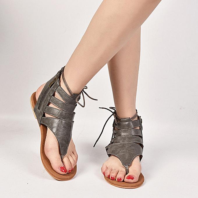Fashion femmes Ladies Solid Sandals Casual Rohomme chaussures à prix pas cher