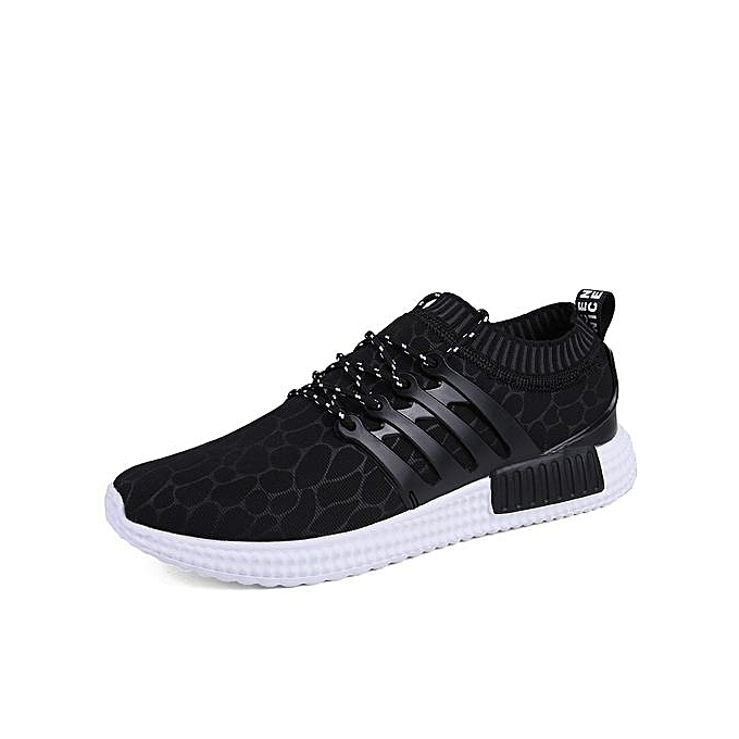 HT HT HT   Breathable Sport Shoes Outdoor Running Jogging Shoes -Black à prix pas cher  | Jumia Maroc f35642