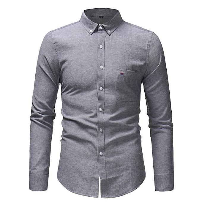 Other Solid Couleur Oxford Textile Business Shirts à prix pas cher