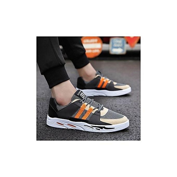 Fashion Canvas chaussures New Summer Men's chaussures Casual Tide chaussures Teen Students chaussures-gris Orange à prix pas cher