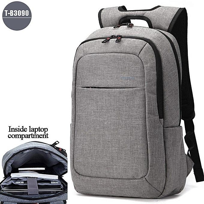 OEM Hot Anti theft Men's Business Daily laptop Backpack light gris à prix pas cher