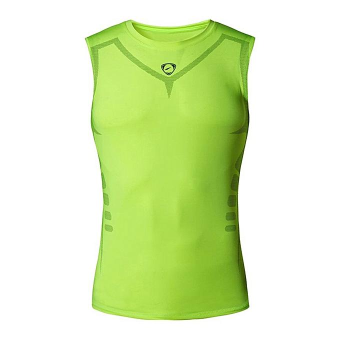 Fashion Fashion Men's  Round Neck Slim Printed Sports Sleeveless Shirts Tee Vest Tank à prix pas cher