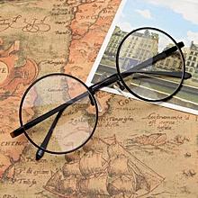 6ba00274ee3 New Fashion Vintage Round Circle Eyeglasses Frame Myopia Glasses Optical Rx  able Black—