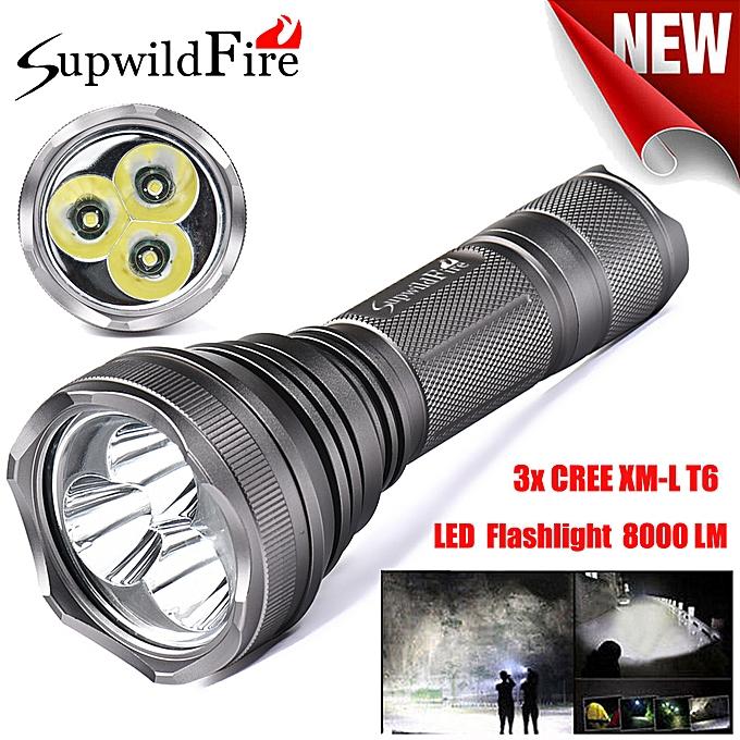 Electronic SupwildFire 8000Lm 3x XM-L T6 LED 5-Mode 18650 Flashlight Torch Light Lamp à prix pas cher