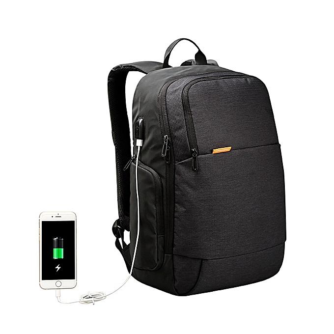 Fashion KINGSONS Men USB External Charging Anti Theft Laptop Backpack for 15.6 Inch Laptop à prix pas cher