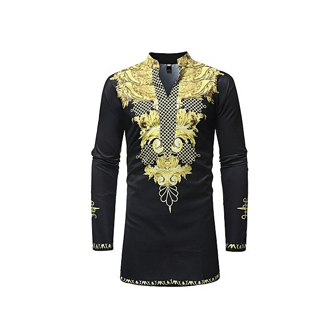 Other African Style Hommes Plus Taille Leisure Printed Shirt à prix pas cher