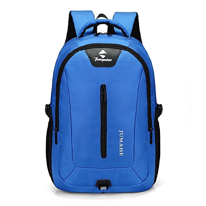 mode Tcetoctre Causl Neutral Nylon sac à dos Solid Couleur Hommes voyage Student School Laptop sac -bleu à prix pas cher