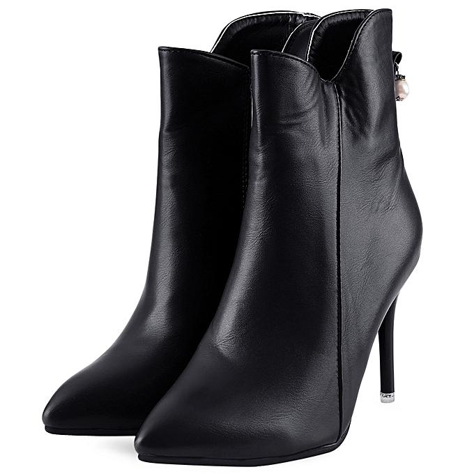 Fashion Sexy Pointed Toe Toe Pointed Thin High Heel Boots-BLACK à prix pas cher  | Jumia Maroc 95f5e2