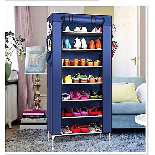 Autre Armoire à Chaussures 7 étages - Bleu marine à prix pas cher ... ec313730d24c