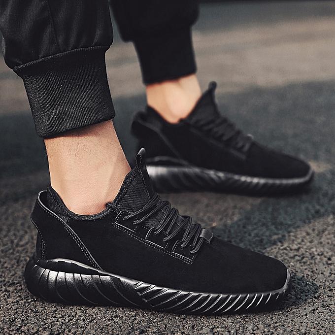 Fashion Hiamok Casual Fashion Men Flat Lace-UP Sports chaussures Solid  Couleur Non-Slip Light baskets à prix pas cher