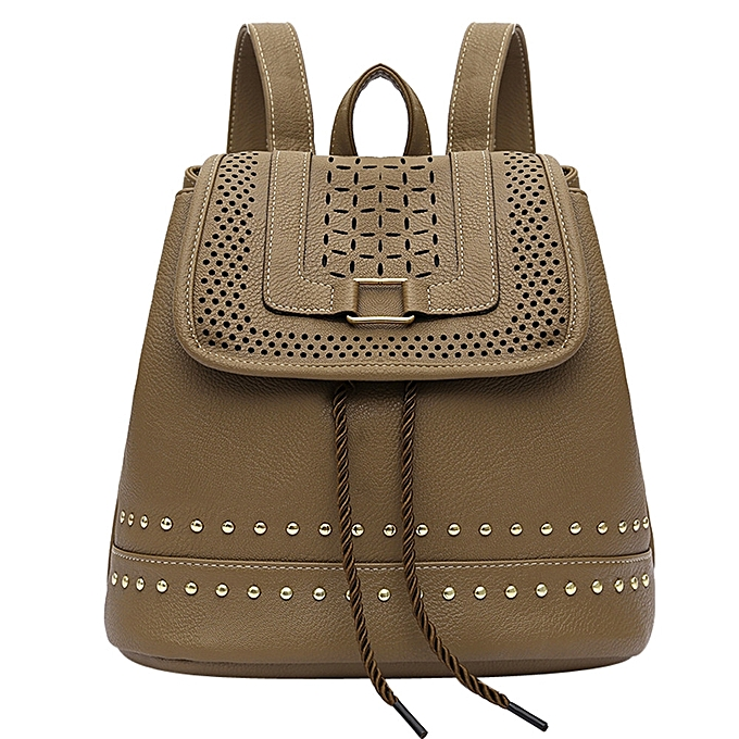 Fashion Fashion femmes Backpack Vintage Hollow Out Travel Rucksack Drawstring School Bag à prix pas cher