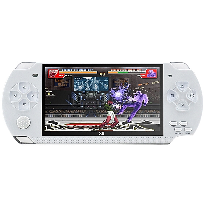 UNIVERSAL X6 4.3 inch Screen Retro portable Game Console with 3MP Camera, Built-in 10000 Games, Supports E-book   Recording   Music Playing   Video Playing(blanc) à prix pas cher