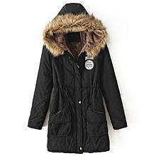 a0b993227de Manteau A Capuche En Coton Pour Femme - Noir