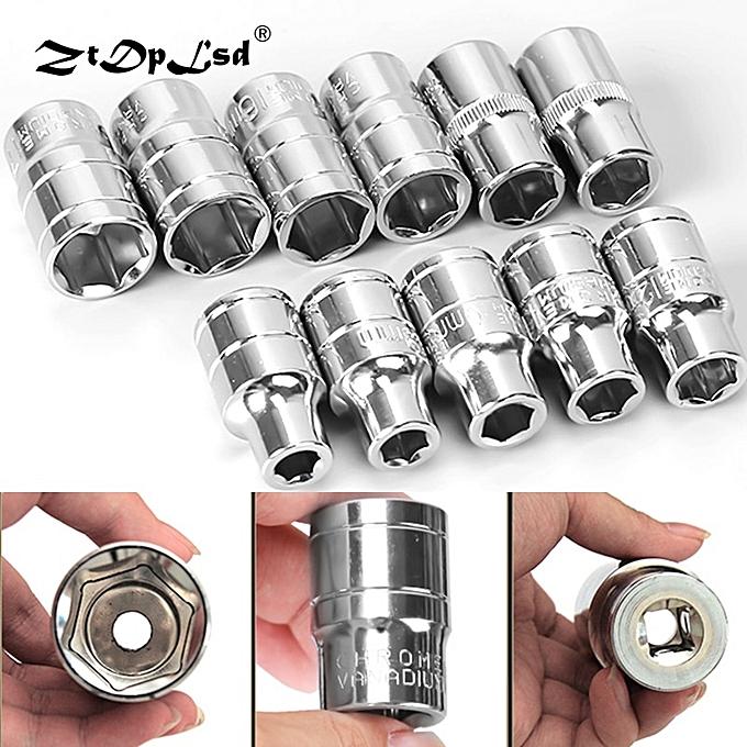 Autre 1Pcs 1 2  8-32mm Hex Socket Set Adapter Short Sockets Crv Torque Spanner Ratchet Wrench Head Sleeve Double Tools(15mm) à prix pas cher