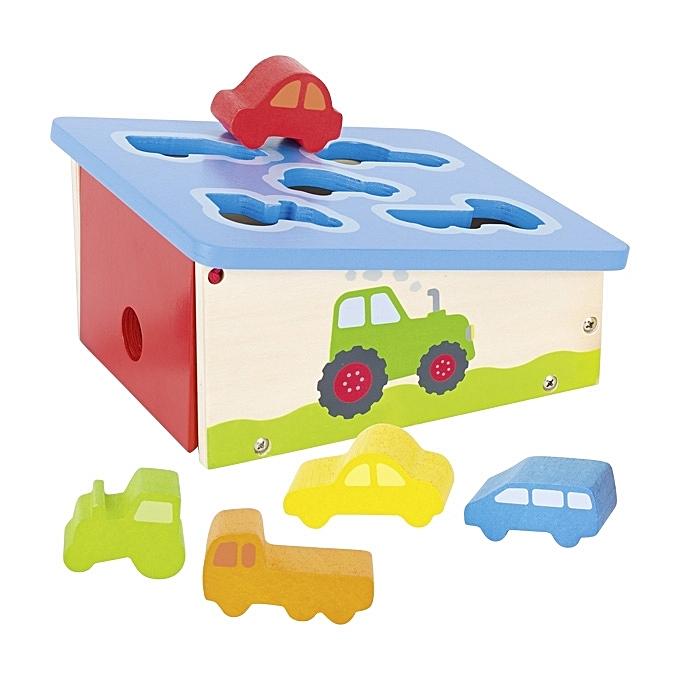 GOKI Jouet éducatif -Boîte à formes, véhicules à prix pas cher