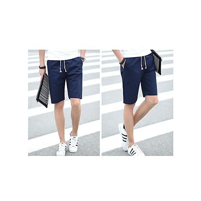 mode bleu Hommes courte Hot mode Hommes courte Pants été Décontracté Hommes courtes Solid Elastic courtes à prix pas cher