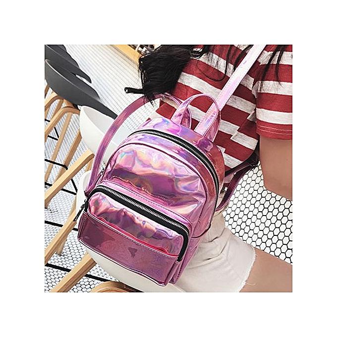 mode Singedanfemmes cuir sac à doss Schoolsacs voyage Shoulder sac  -rose à prix pas cher