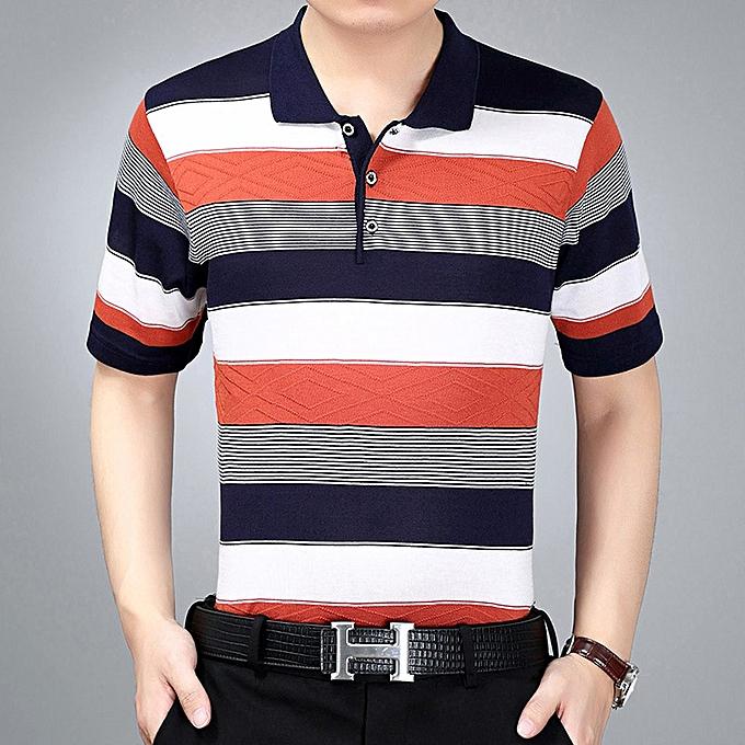 Fashion Men polo shirt-Orange à prix pas cher