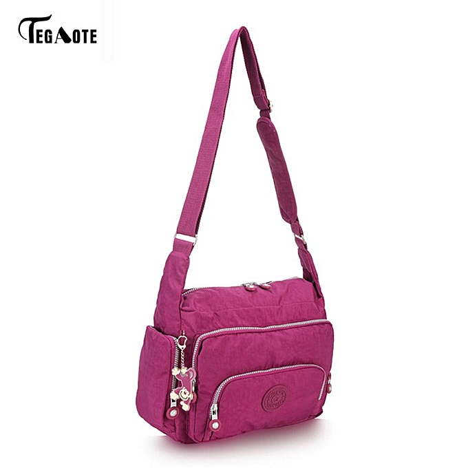 Other TEGAOTE Brand 2017 Spring Summer Fashion Crossbody Bags Single Shoulder Bags Ladies Nylon Bags femmes Handbags New Sac Femme(violet rouge) à prix pas cher