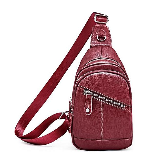 Fashion Sling Bag Men sports bag chest bag leather outdoor shoulder casual crossbody chest bag hommes leather sling bag femmes à prix pas cher