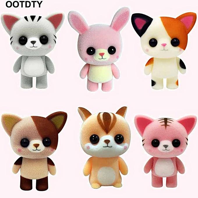 Autre Cute Mini Cat Doll Animal Flocking Toys For   Enfants Gifts voiture Home Decoration(23) à prix pas cher