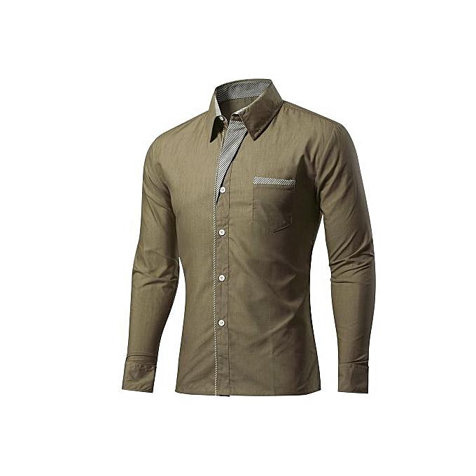 Other Plus Taille Cotton Blend Hommes& 039;s manche longued Shirt à prix pas cher