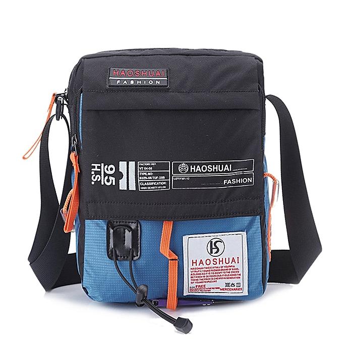 Other Hommes Nylon Messenger sac Shoulder bandoulière sacs Multifunction mode Décontracté Hiking Bicycle voyage Satchel School Handsac XA80ZC(bleu) à prix pas cher