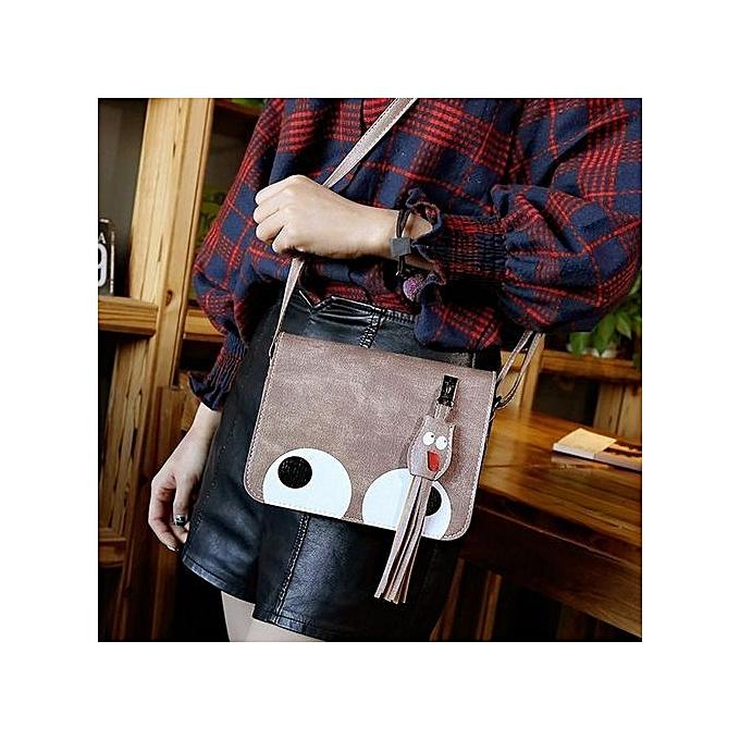 Siketu femmes Pendant Leather Crossbody Bag Handbag Coin Bag Phone Bag marron-marron à prix pas cher