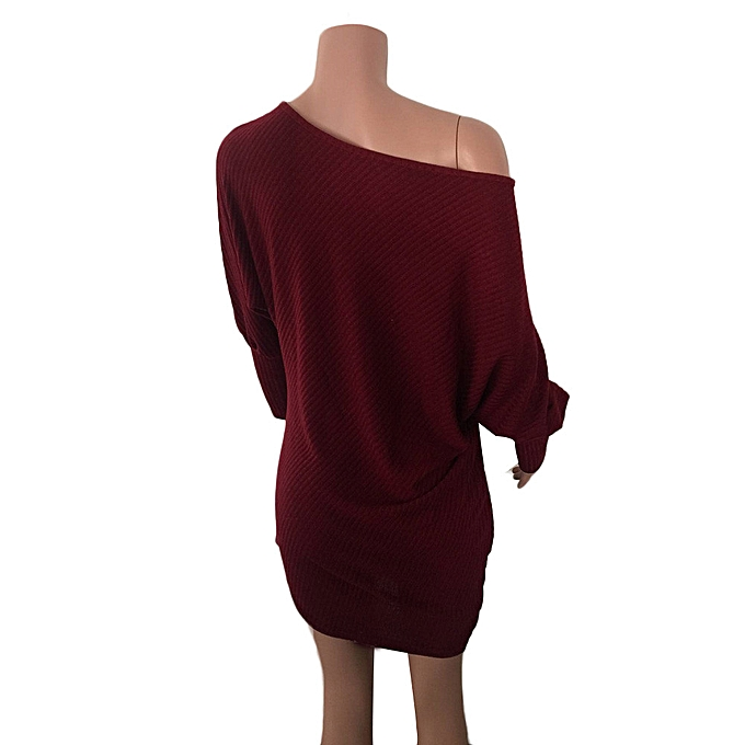 mode femmes Strapless Ladies mode Knitting Slim  chandail  Robe à prix pas cher
