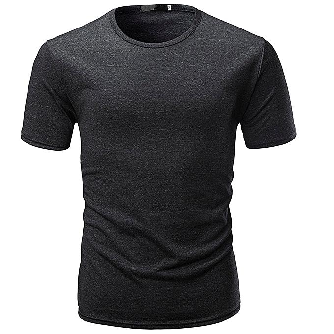 mode mode Hommes& 039;s Décontracté Slim manche courte T Shirt Muscle Top chemisier BK L à prix pas cher