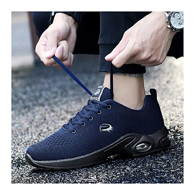 Fashion   Knitted Knitted Knitted Fabric Shock Absorption Air-cushion Sole Trainers Casual Sneakers à prix pas cher  | Jumia Maroc ab77c0