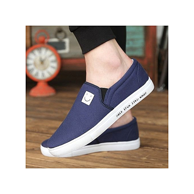 Other Korean Smiling Face Canvas Loafers chaussures for Men à prix pas cher