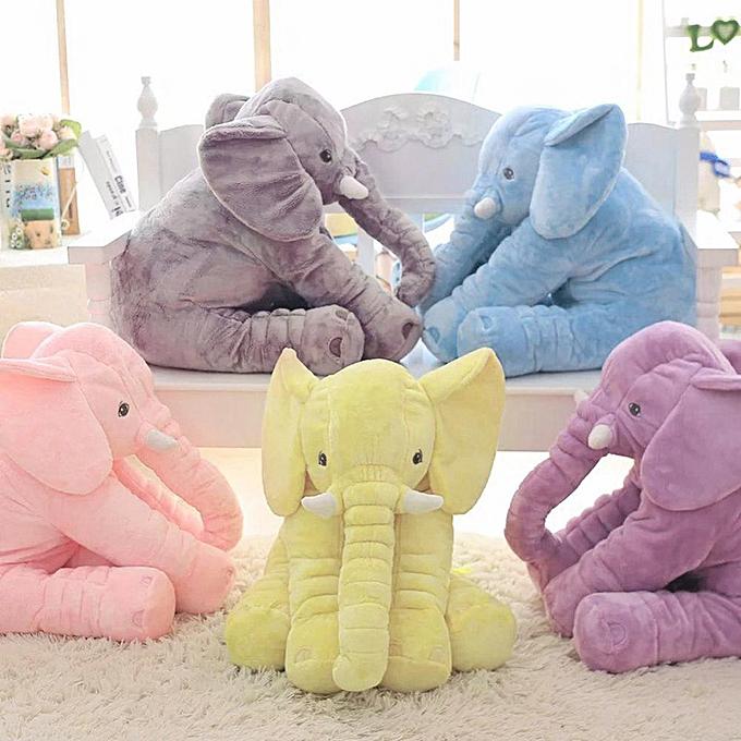 Autre 40 60cm Height Plush Elephant Doll Toy Kids Sleeping Back Cushion Cute Stuffed Elephant Baby Accompany Doll Xmas Gift(bleu) à prix pas cher