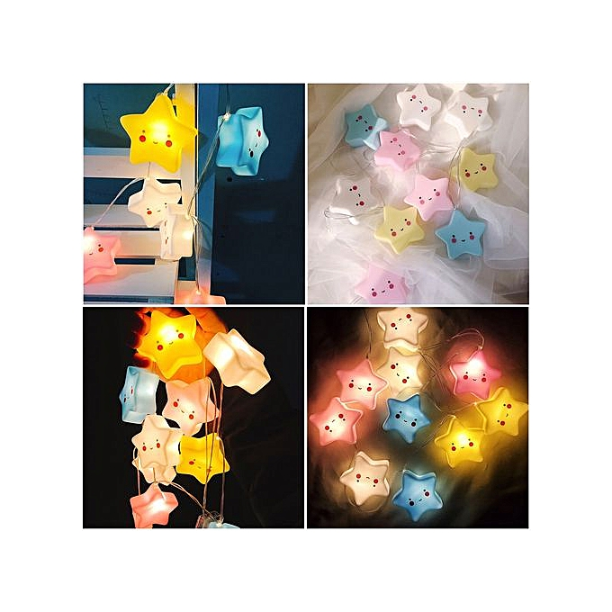 Generic Xiuxingzi-Cute 10pcs Stars LED String Fairy Lights Lamp Night Light Party Home Decoration à prix pas cher