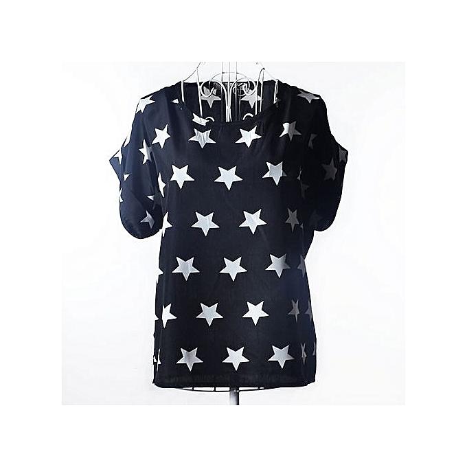 Fashion femmes Sexy Flower Embroidery Ruffles Mesh Shirts See Through  Short Sleeve Blouse Ladies Casual Tops bleusas-noir07 à prix pas cher
