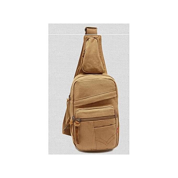 Generic Man Shoulder sac toile Messenger sacs Male Décontracté Chest pack sac à prix pas cher