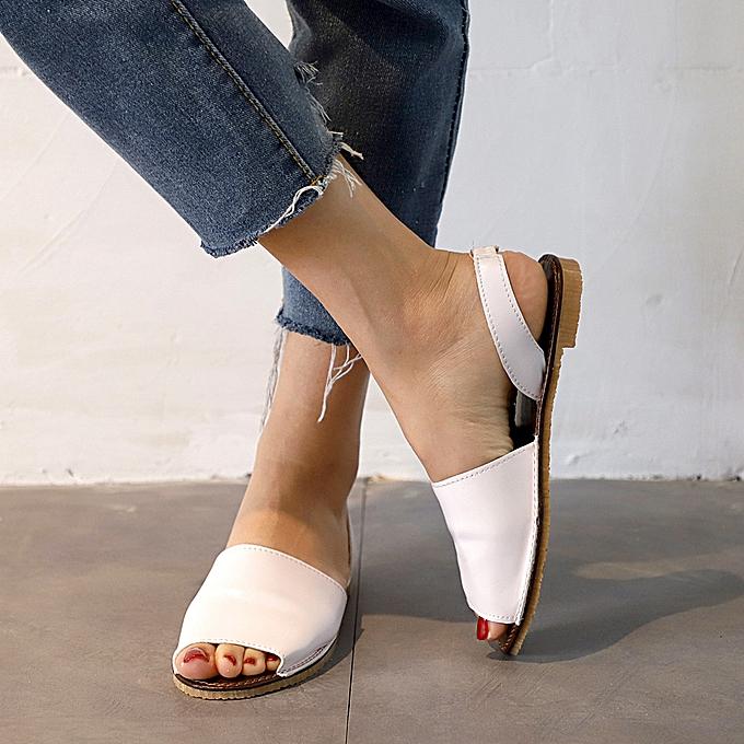 mode TEC femmes Ladies Fish Mouth EspadrillesChunky Holiday chaussures Flat Sandals à prix pas cher