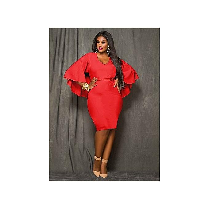 Fashion Sexy Bodycon Midi Wrap Dress Elegant Formal Office Pencil Dress Sleeveless Club Party Dress-rouge à prix pas cher