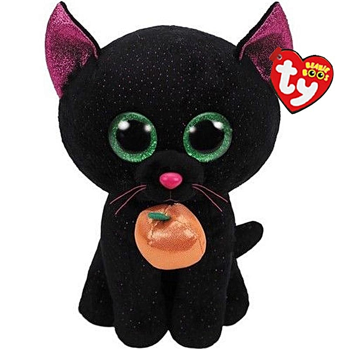Autre Ty Beanie Boos Cat Plush Toy Doll Stuffed Animal 6  15cm(noir Cat withpumpki) à prix pas cher