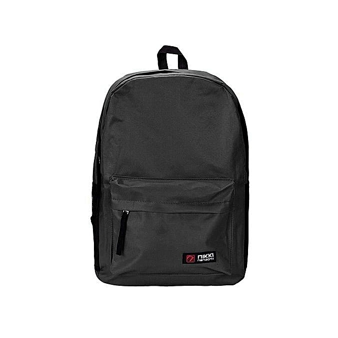 Neworldline femmes Men Student  Backpack School Shoulder Backpack  Handle Bag noir -noir à prix pas cher