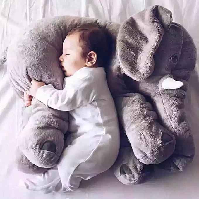 Autre 40cm 60cm Height Infant Plush Elephant Soft Appease Playmate Calm Doll   Toy Elephant PilFaible Plush Toys Stuffed Doll(rose) à prix pas cher