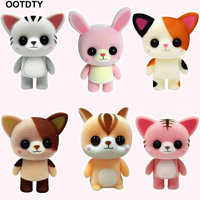 Autre Cute Mini Cat Doll Animal Flocking Toys For Baby Kids Gifts Car Home Decoration(26) à prix pas cher