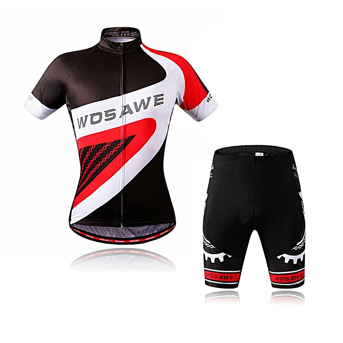 Generic BC463 Cycling Jersey Bicycle Short Sleeve Top Shorts Tights Pants Suit Set à prix pas cher