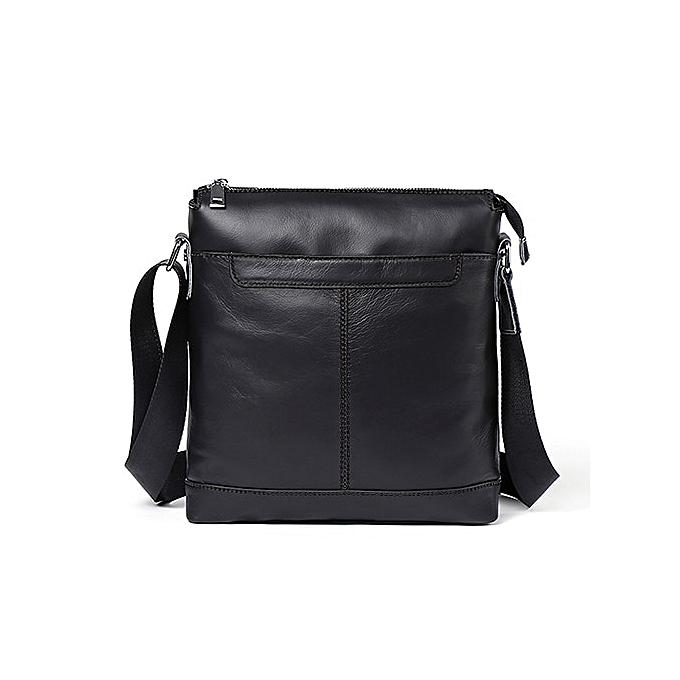 Other WESTAL  Leather Men bag Messenger Bags men leather small flap Fashion Zipper Design male shoulder crossbody bags for homme(8209A4noir) à prix pas cher