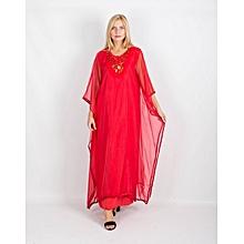 Gandoura femme - Rouge 391dbd9f04a