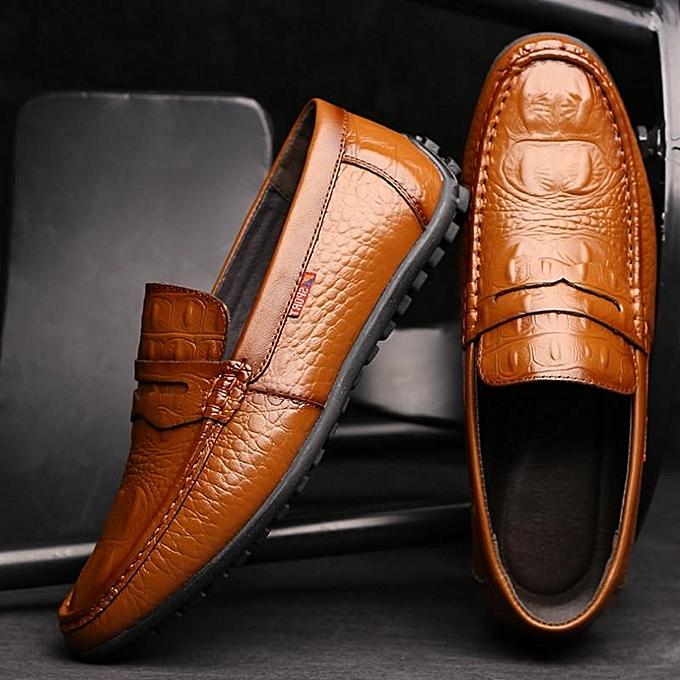 Fashion   Crocodile Crocodile  Pattern Soft Slip On Doug Shoes Casual Leather Driving Loafers-EU à prix pas cher  | Jumia Maroc 2c255b