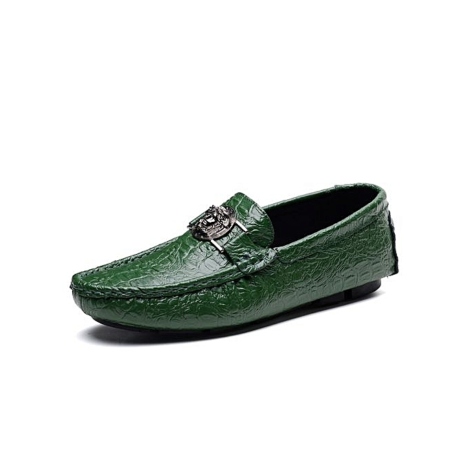 Fashion Mens Leather Loafer With Buckle At Front Plus Taille-vert à prix pas cher    Jumia Maroc