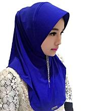 New Women  039 s Fashion Accessories Muslim Islamic Pure Colors Soft Hijab  Hat Cap 7899d01a362