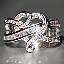 New Women 1Pc Artificial Diamond Wedding Birthstone Bride Party Casual  Jewelry Charm Ring 667aa82672a0